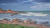приморский : Dramatic spring morning on the Passero cape, Sicily, Italy, Tyrrhenian sea, Europe.