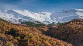 безмятежность : Colorful autumn morning in the Caucasus mountains. Upper Svaneti, Georgia, Europe. HD video (High Definition). Exported from RAW file. Стоковые видеозаписи