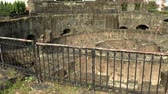 intramuros : pan shot view of thick circular wall ruin at baluarte de san diego intramuros manila. Stock Footage