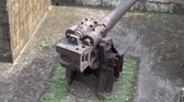 intramuros : vintage defense artillery gun, cannon displayed at intramuros manila. Stock Footage