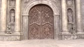 intramuros : carved doors of san agustin church, intramuros, manila philippines. national historical landmark.