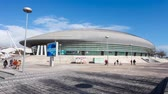moderno : Lisbon, Portugal - February 01, 2015: Atlantico Pavilion (Pavilhao Atlantico), currently called MEO Arena, in Park of Nations (Parque das Nacoes)