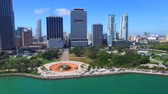 usa : Beautiful aerial view of Downtown Miami, Florida - United States Stock Footage