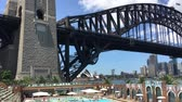 november : SYDNEY? NOVEMBER 2015: Panoramic view of Sydney Harbour from North Sydney Olympic Pool. The city attracts 10 million visitors annually