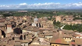 toscano : Panoramic aerial view of Siena