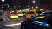motion blur : NEW YORK CITY? OCTOBER 2015: Manhattan Traffic at Night. New York traffic is very heavy on peak hours