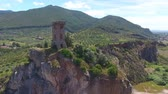 landslide : Tower of Caprona? Pisa, Italy. Aerial view.