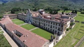 article : Aerial view of Calci Charterhouse, Tuscany.