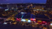 red : Fort Lauderdale skyline at night, aerial view
