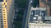new york : NEW YORK CITY - JUNE, 2013: Aerial city traffic. Traffic is major city issue Stock Footage