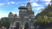 vitoriano : NEW YORK CITY? OCTOBER 2015: People in Belvedere Castle, Central Park. Central Park is the greatest park in the city