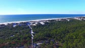 wydmy : Cape San Blas, panoramic aerial view of Florida coastline Wideo