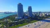 wealthy : South Beach, Miami. Beautiful aerial view of coastline