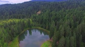 bouda : Aerial view of Mountain Lake and Chalet