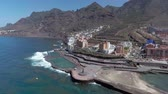 oceano atlântico : Bajamar pools in Tenerife, Spain. Aerial view