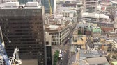 Лондон : London City buildings aerial view. Financial quarter