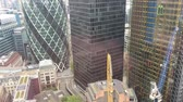 bankieren : London City-gebouwen luchtmening. Financieel kwartaal Stockvideo