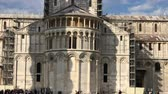 toscana : Square of Miracles, Pisa. View of Cathedral Stock Footage