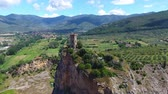 toscana : Aerial view of Caprona Tower in Pisa, Italy Stock Footage