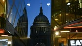 Лондон : LONDON? JULY 2015: St Paul Cathedral facade at night. It is a major city landmark