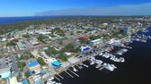 Panoramic aerial view skyline of Destin, Florida