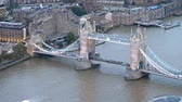 London Tower Bridge aerial view