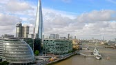 London. Modern city skyline along river Thames