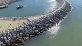 Rocks protecting sea port