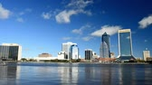 JACKSONVILLE, FL - JANUARY 2016: City skyline on a beautiful day. Jacksonville is a major destination in Florida