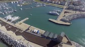 Port of Pisa, aerial view Stock Footage