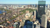new house : Boston skyline from a high vantage point on a beautiful day. Stock Footage