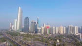 caro : Panoramic aerial view of Abu Dhabi cityscape from Corniche Beach