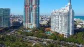 Miami Beach panoramic aerial view from South Pointe