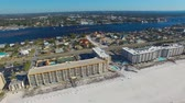 smooth water : FORT WALTON, FL - FEBRUARY 2016: Aerial view of city skyline and beach. Fort Walton is a major attraction in Florida