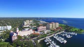 aziz : St Petersburg, FL. Aerial view of city skyline on a sunny day