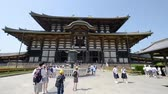 buddhismus : KYOTO, JAPAN - MAY 2016: Todaiji Temple on a beautiful day. Kyoto attracts 10 million people annually Dostupné videozáznamy