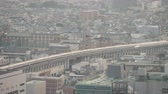 shinkansen : TOKYO, JAPAN - MAY 2016: Aerial view of Shinkansen trains in Tokyo railway station. Shinkansen is a network of high-speed railway lines in Japan.