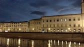 toscana : Arno river at sunset, Pisa - Italy Stock Footage