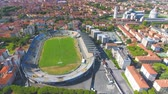 italiano : Pisa, Italy. Aerial view of Stadium and Square of Miracles