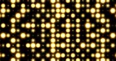 Flashing Stage LED Panel Lights Pattern Background Loop Стоковые видеозаписи