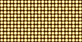 Yellow Stage LED Floodlights Matrix Panel Lights Visual on a black Background, Animated in a Full Screen Pulsating Flashing Motion. Стоковые видеозаписи
