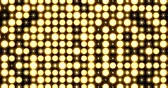 Yellow Nightclub Stage Backdrop LED Matrix Panel Lights Visual on a black Background, Animated in a Full Screen Twinkling motion.