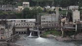 postroj : Willamette Falls is a Natural Waterfall in Oregon City with a Hydro Electric Generation Facility 1920x1080