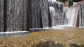 smooth water : Public Park Modern Design Stone Water Fountain in Downtown Portland Oregon 1920x1080 Closeup
