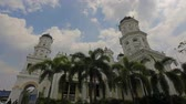 vitoriano : Sultan Abu Bakar State Mosque located along Jalan Skudai, Johor Bahru, Malaysia with Moving White Clouds and Blue Sky Time Lapse 1080p. It was constructed between 1892 and 1900.  Vídeos