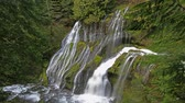 пантеры : Panther Creek Falls with Long Exposure Waterflow Closeup Time Lapse 1920x1080