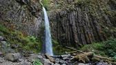 united states : High Definition Movie with Water Audio Sound of Dry Creek Falls in Cascade Locks Oregon 1920x1080 Stock Footage