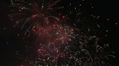 High definition movie of New Years eve festive firework show celebration at night 1080p hd