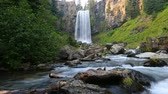 High definition 1080p movie with audio of beautiful Tumalo Falls west of Bend Oregon hd United States