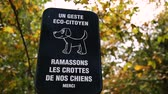 Dog droppings sign